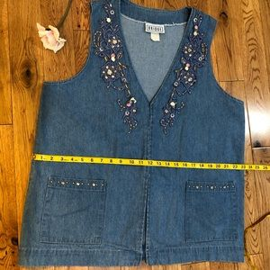 BRIDGE vintage denim vest size L